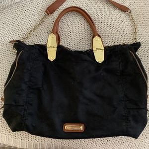 Black and Brown Steve Madden Purse